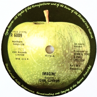 "John Lennon ‎- Imagine (7"") (G+/EX)"
